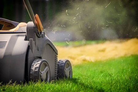 Aerating done by a lawn mower